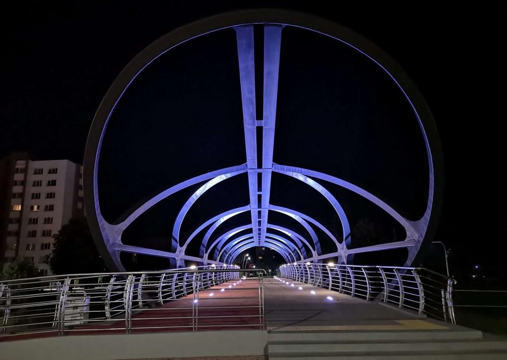 Pėsčiųjų - dviračių tiltas Jonavoje